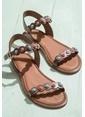 Elle Deri Sandalet Taba